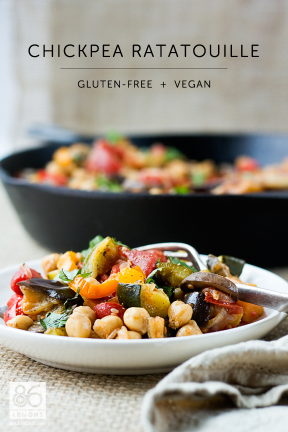 Chickpea Ratatouille #vegan #glutenfree #recipe  86lemons.com
