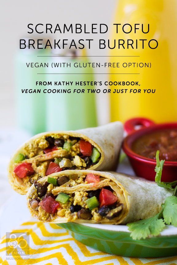 Scrambled Tofu Burrito (tastes like the real thing!) #vegan #glutenfree #breakfast #crockpot #slowcookerrecipe #kathyhester
