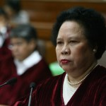 Senator Judge Miriam Defensor Santiago is seen during the impeachment trial of Supreme Court Chief Justice Renato Corona held at the Senate in Pasay City, south of Manila, on 26 January 2012. The trial enters its seventh day today. (Rene Dilan/Manila Times/Senate Pool/NPPA Images)
