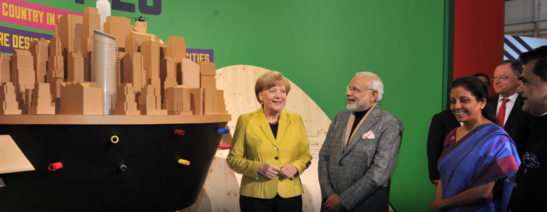 Merkel und Modi: Bekommt Indien deutsche Hilfe beim Klimaschutz? (Foto: Indische Regierung, CC BY-SA 2.0))