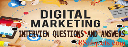digital marketing interview question and answer