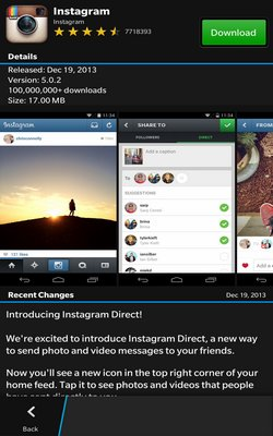 Snap app for BlackBerry 10