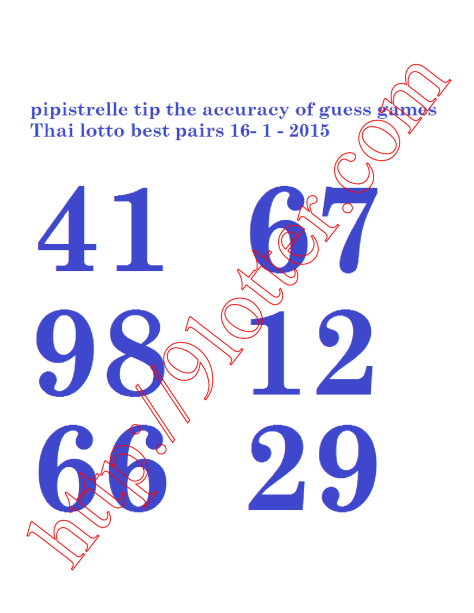 Thailand Lottery Winning Numbers | Search Results | Calendar 2015