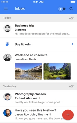 Inbox by Gmail for iPhone