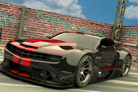 black modified chevrolet camaro hd wallpaper