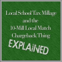 Local School Tax Millage and the 10-Mill Local Match Chargeback Thing - Explained