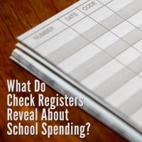 What Do Check Registers Reveal About School Spending?