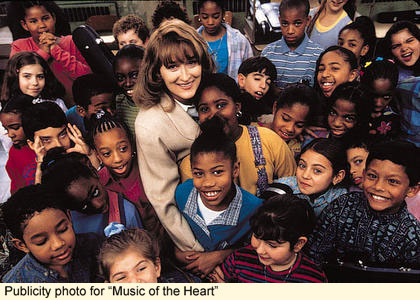 "Publicity photo from ""Music of the Heart,"" starring Meryl Streep and a whole platoon of adorable underprivileged children."