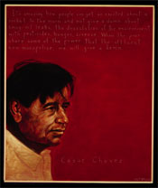 Portrait of Cesar Chavez