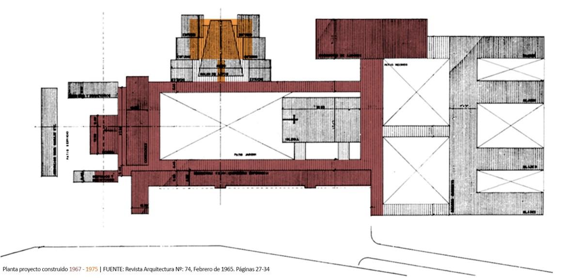 aVA - Revista Arquitectura - Colegio Sagrada Familia - P - Planta construida