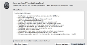 Tweetbot version Alpha 2