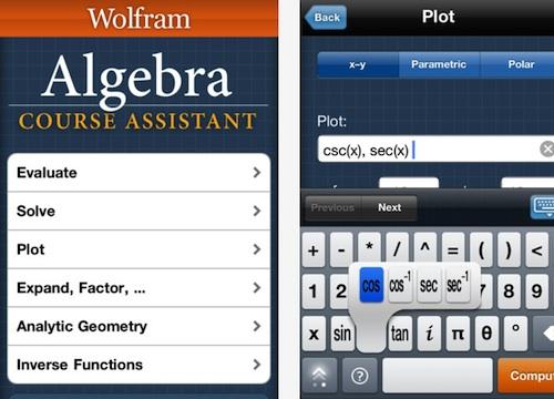 Wolfram Algebra Course Assistant iPhone iPad App