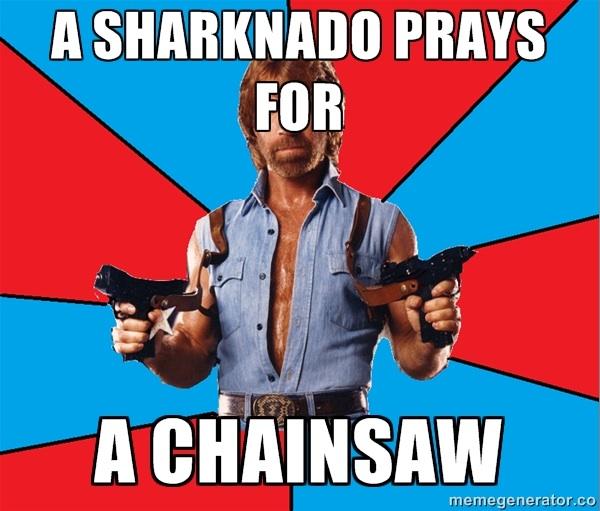 Sharknado Chuck Norris meme