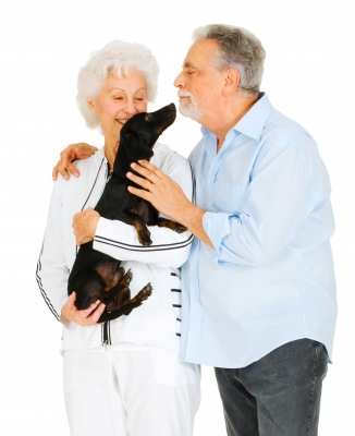 Senior Couple With Dog_freedigitalphotos.net-Ambro