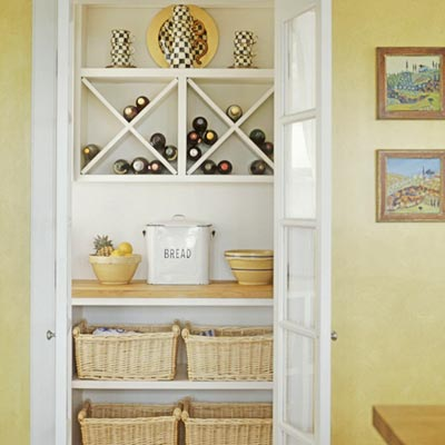 use wicker baskets for large items