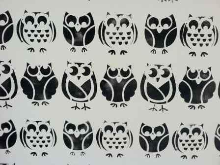 owl wall stencil - woven home