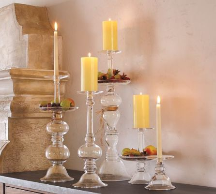 pottery barn - candle holders