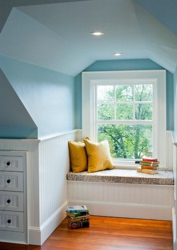 built in reading nook - pinterest