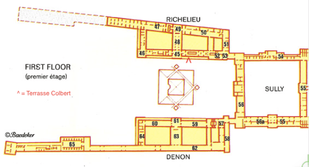 Location of the Terrace Snack Bar at the Louvre