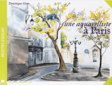 Book of Watercolor Prints of Paris