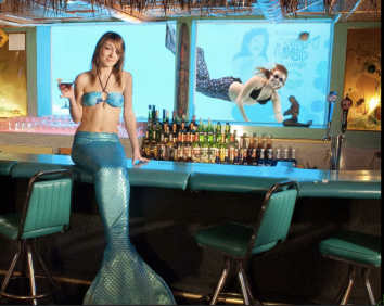 Sip & Dip Bar with Live Mermaids