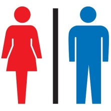 Japanese restroom pictogram