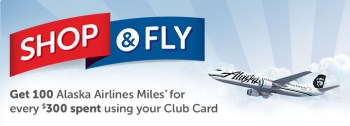 Set it and forget it. Earn Alaska Air miles at Safeway
