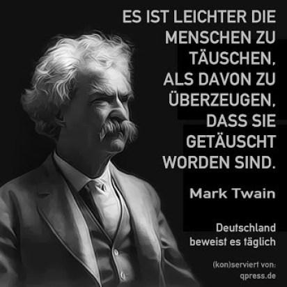 Mark Twain über die Täuschung von Menschen