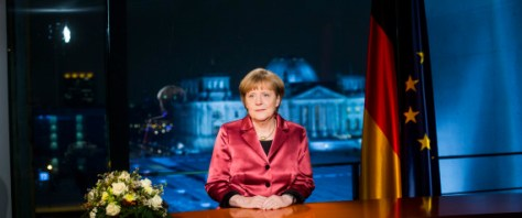BERLIN, GERMANY - DECEMBER 30: German Chancellor Angela Merkel makes her New Year's speech on December 30, 2014 in Berlin, Germany. (Photo by Jochen Zick - Pool/Getty Images)