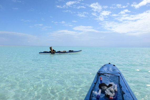 Kayak off the island of Medjumbe, Mozambique