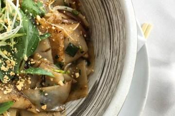 Thai Drunken Noodles Gulf Shrimp, Thai Chilies, Holy Basil