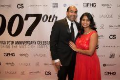 CYSO Board member Saurab Bhargava and Anjani Bhargava | Photo by Elliot Mandel
