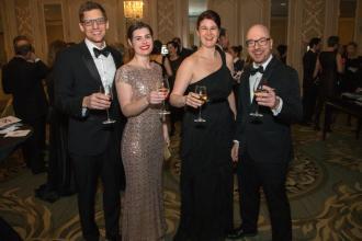 CYSO Debut Orchestra Conductor Dana Green, Heather Green, Cate Mascari, and Concert Orchestra Conductor Michael Mascari