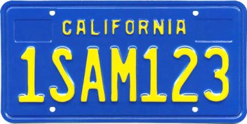 California Legacy Blue Plate