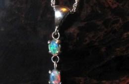 Aussie Double Opal Pendant