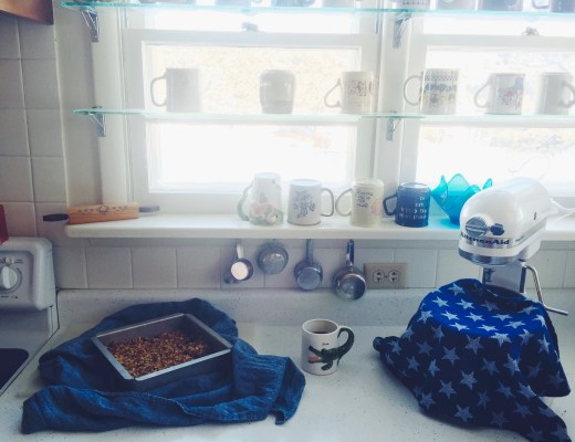 Grandma's Kitchen + Honey Caramel Granola Bars