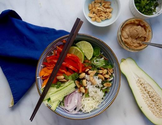 Peanut Sauce + Thai-Style Rice Salad