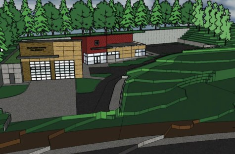 Conceptual view of new fire station