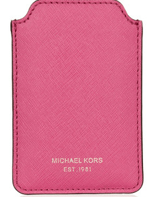 Michael Kors Pink Leather iPhone Sleeve $50