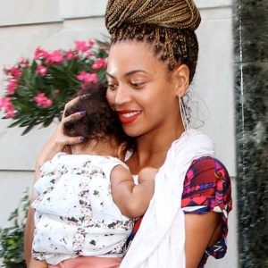 Beyonce Steps Out With Baby Blue Ivy