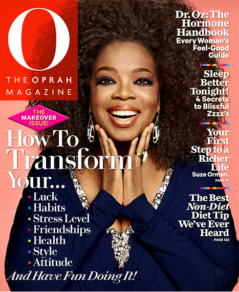 Oprah Magazine Cover September 2012