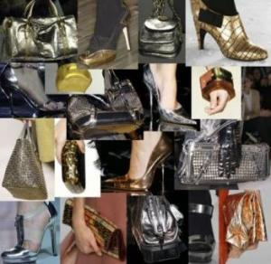 For fall 2012 adding metallic accessories to any outfit gives instant glamour. *Photo Credit: Girldirectory
