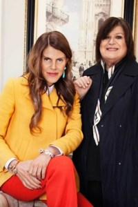 Anna Dello Russo editor-at-large for Vogue Japan with H&M's creative advisor, Margareta van den Bosch. *Photo Credit: Vogue