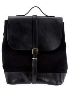 Black Leather Backpack, Steve Mono, www.farfetch.com, $436.22