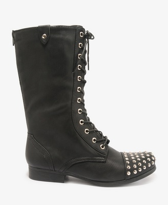 Forever 21 Studded Combat Boots $39