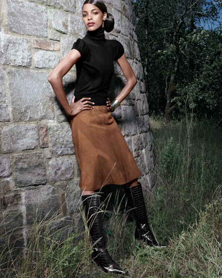 Skirt with boots