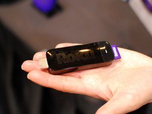 The Roku Streaming Stick plugs into ports on newer TVs, giving online content from providers such as Netflix, MLB, Pandora and Rdio. Requiring no dedicated power and has built in WiFi for under $100. *Photo Credit: Popularmechanics