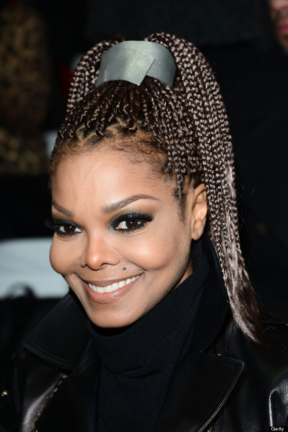 Janet Jackson at a F/W 2013 fashion show in box braids