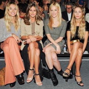 Jessica Hart, Olivia Palermo, Byrdie Bell, and Harley Viera Newton at Rachel Zoe F13