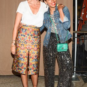 Jenna Lyons and Solange at NYFW afterparty